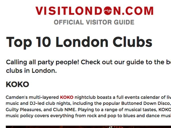 VisitLondon.com: Top 10 London Clubs